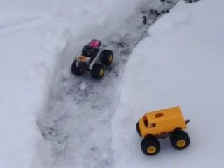 エアロブル 🔛 ワイルドシャーシ 雪上サーキット